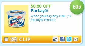 parkay coupon $0.50/1 Parkay Product Coupon