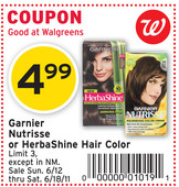garnier herbashine coupon1 Garnier Herbashine Hair Color Coupon | $1.99 at Walgreens
