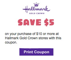 hallmark printable coupons1 Hallmark Printable Coupons for $5 off $10 Purchase