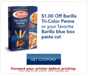 barilla pasta printable coupons 300x255 $1/1 Barilla Pasta Printable Coupons