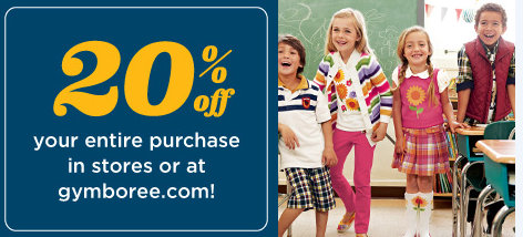 gymboree New Gymboree 20% Off Coupon (Printable, Text or Online Code)