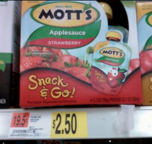 motts New Motts Snack & Go Coupon + Walmart Scenario