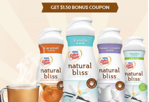 bliss *High Value* $1.50/1 Coffee Mate Natural Bliss Creamer Coupon