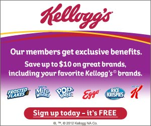 kelloggs Kelloggs Family Rewards   New Point Code (Redeem for Rewards or Coupons)