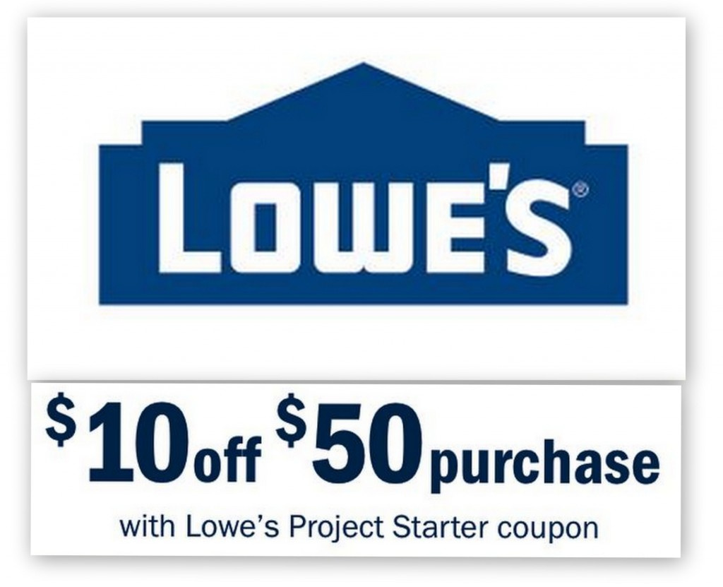 lowes 1024x831 Lowes: $10 Off $50 Entire Purchase Printable Coupon