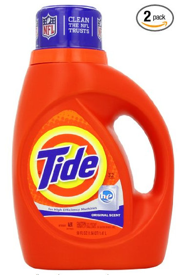tide1 Tide Original Scent Liquid (HE) Laundry Detergent 50 Fl Oz 2 Count for $9.88 Shipped ($4.94 per bottle)