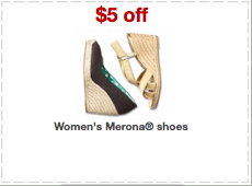 merona shoes printable coupons