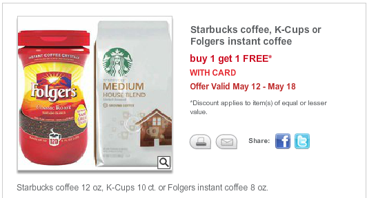 cvs 5 12 CVS: Starbucks K Cups or Folgers Instant Cofee BOGO FREE Deal Starting 5/12