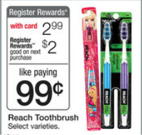 reach toothbrush FREE Reach Toothbrushes at Walgreens