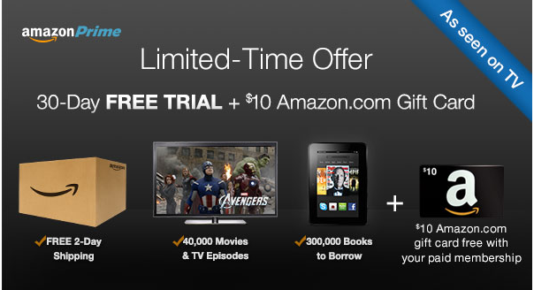 amazon prime FREE 30 Day Trial Of Amazon Prime Membership | FREE 2 Day Shipping, Live Streaming and More!