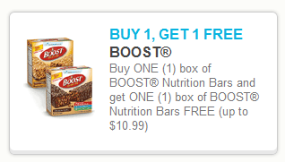 New Boost Bars Printable Coupon + CVS Deal