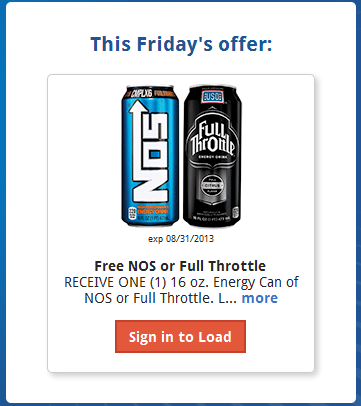 friday Kroger Shoppers: FREE NOS or Full Throttle 16 oz Energy Drink with Digital Coupon (Load Now)