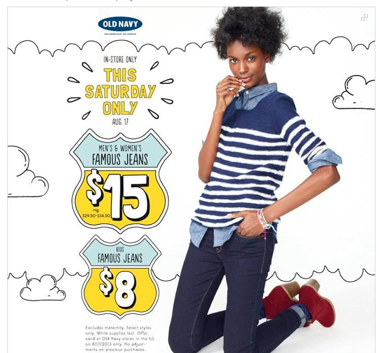 Old Navy Denim Deal + Other Retail Coupons