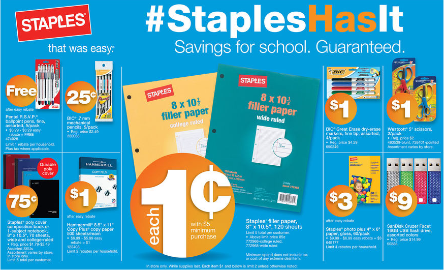 Back to School Staples Deals for 8/4 – 8/10