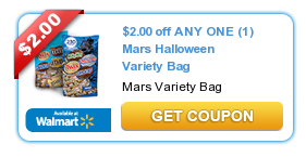 Mars Halloween Variety Bag Coupon + Rite Aid, Walmart and Upcoming CVS Deals