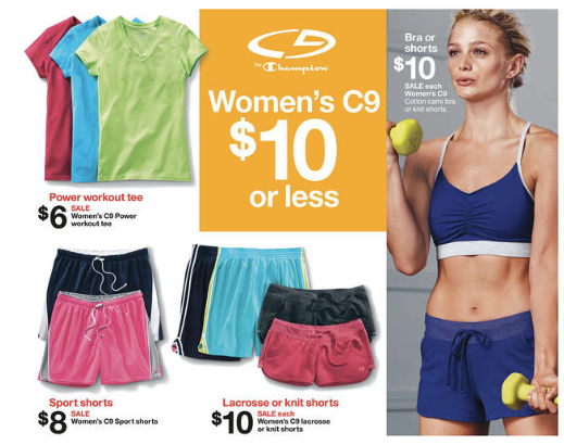 Target C9 by Champion Workout Clothes As Low As $2.70 + More