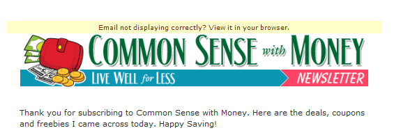 Common Sense With Money Newsletter Glitch