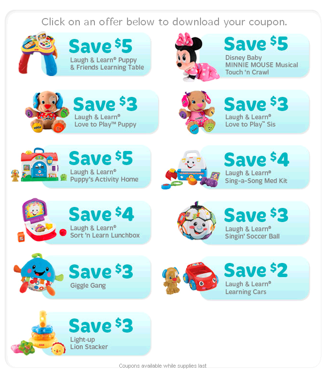 Fisher Price Coupons