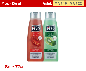 Alberto VO5 Shampoo and Conditioner Just $.52 Each Starting 3/16!