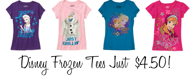 *HOT* Disney Frozen Tees Just $4.50 + Free Store Pickup!