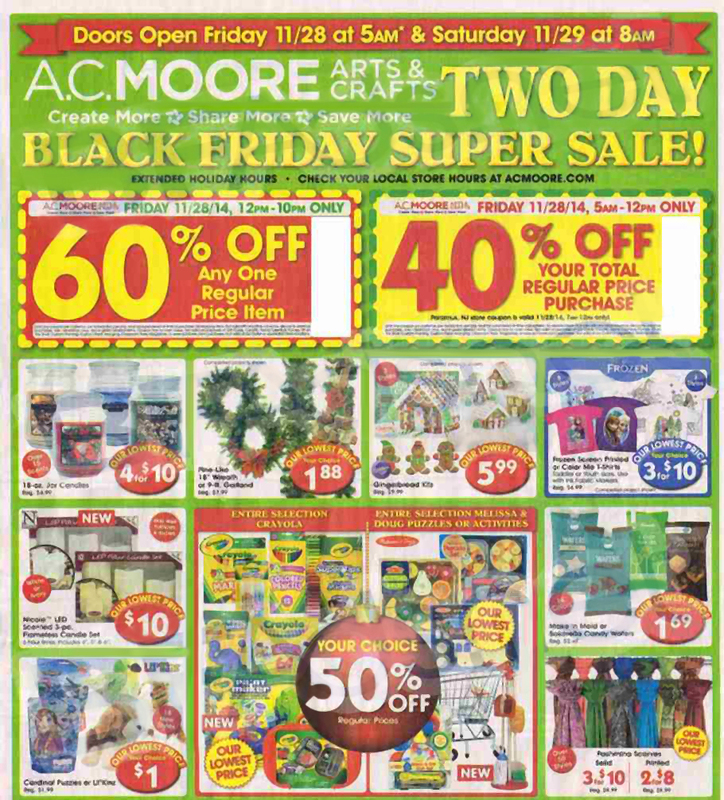 AC Moore Black Friday Ad 2014 Pg 1