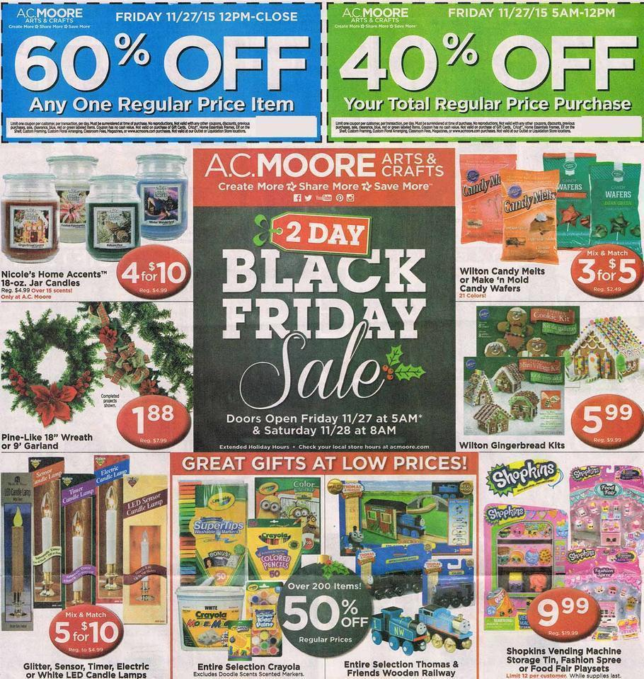 AC Moore Black Friday 2015 Ad Page 1