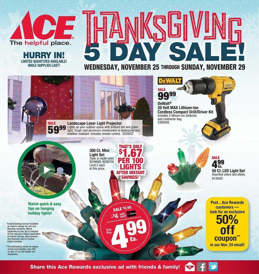 Ace Hardware Black Friday 2015 Ad Page 1