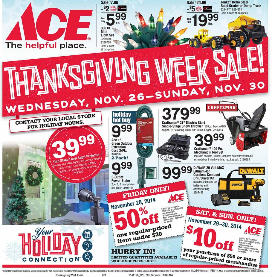 ACE Hardware Black Friday Ad 2014 Pg 1