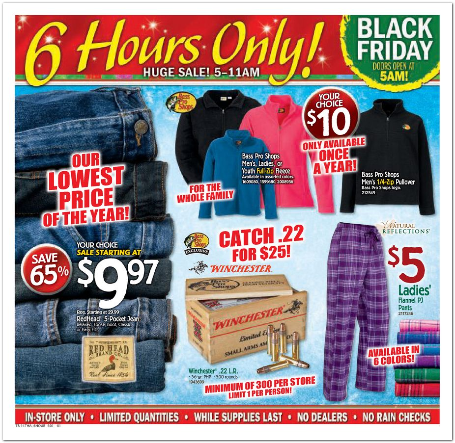 Bass Pro Shops Black Friday Ad 2014 Pg 1