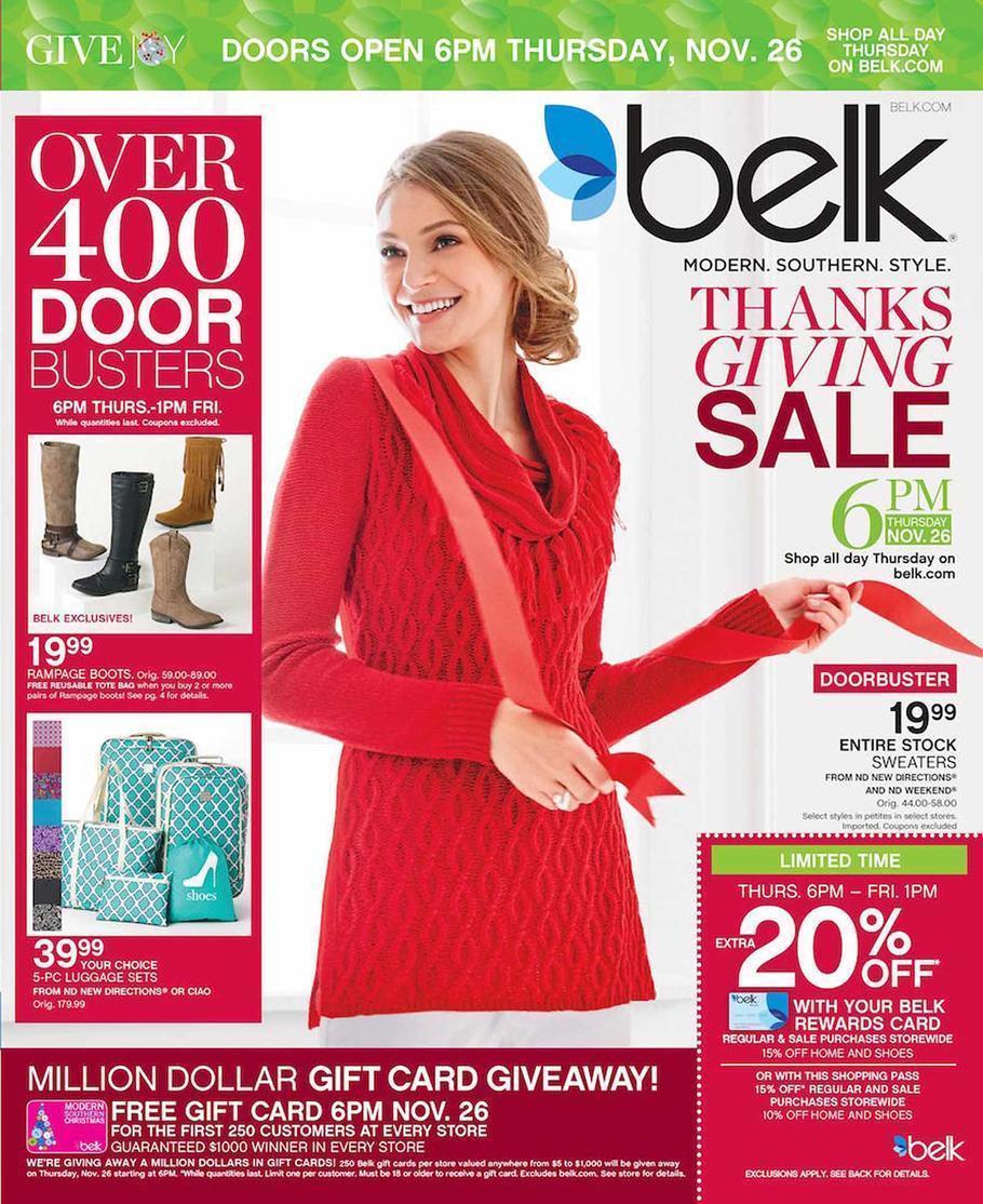 Belk Black Friday 2015 Ad Page 1
