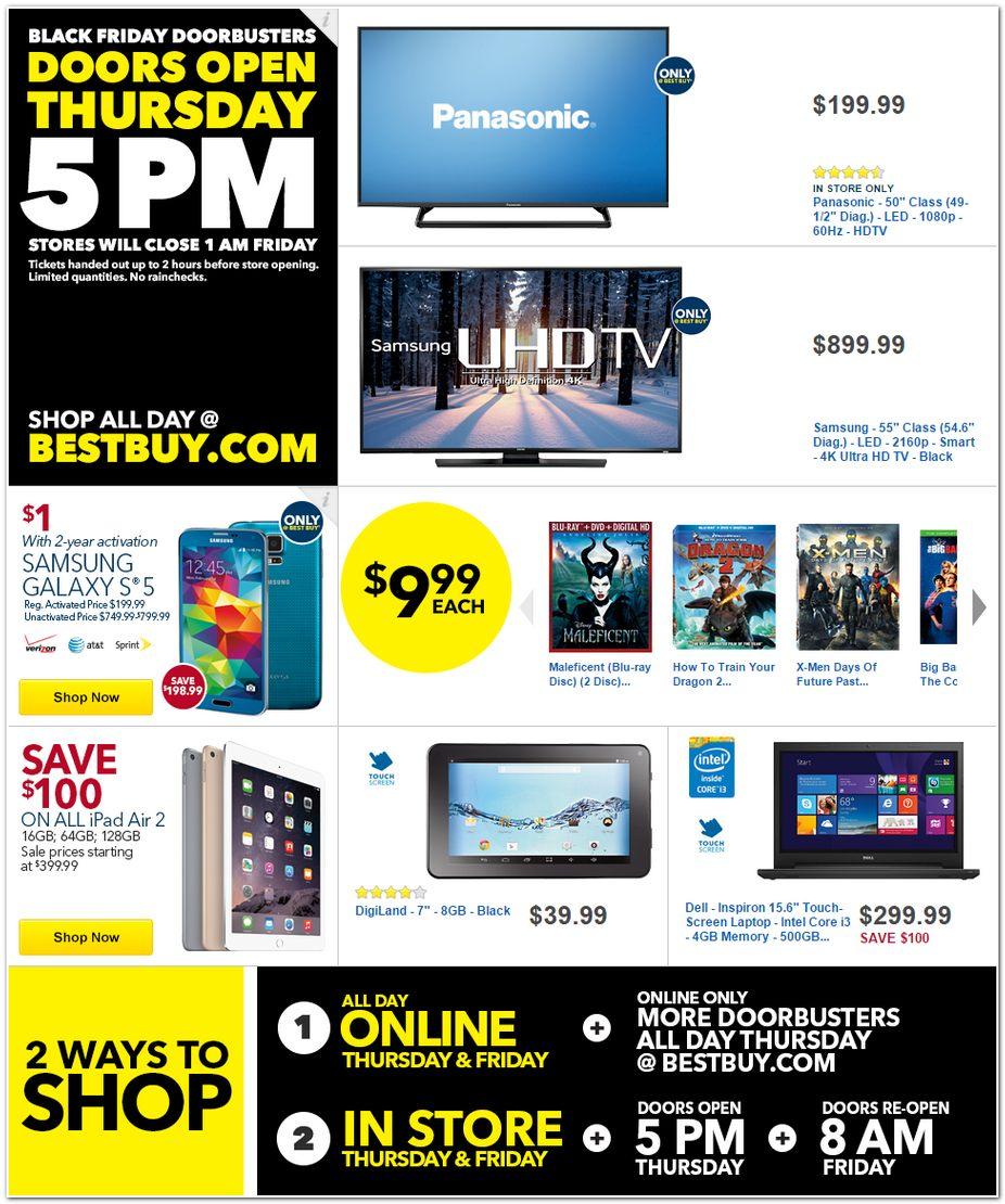 Best Buy Black Friday Ad 2014 Pg 1