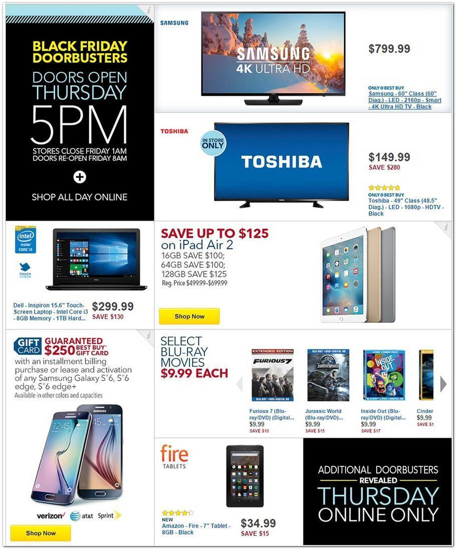 Best Buy Black Friday 2015 Ad Page 1