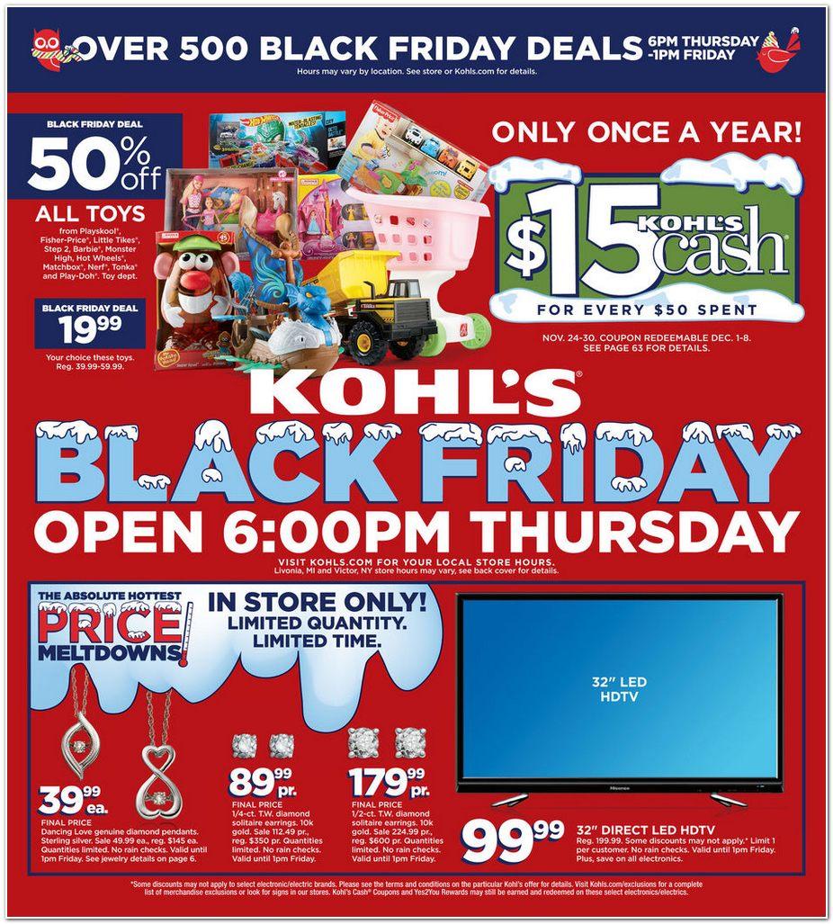 Kohls Black Friday Ad 2014 Pg 1