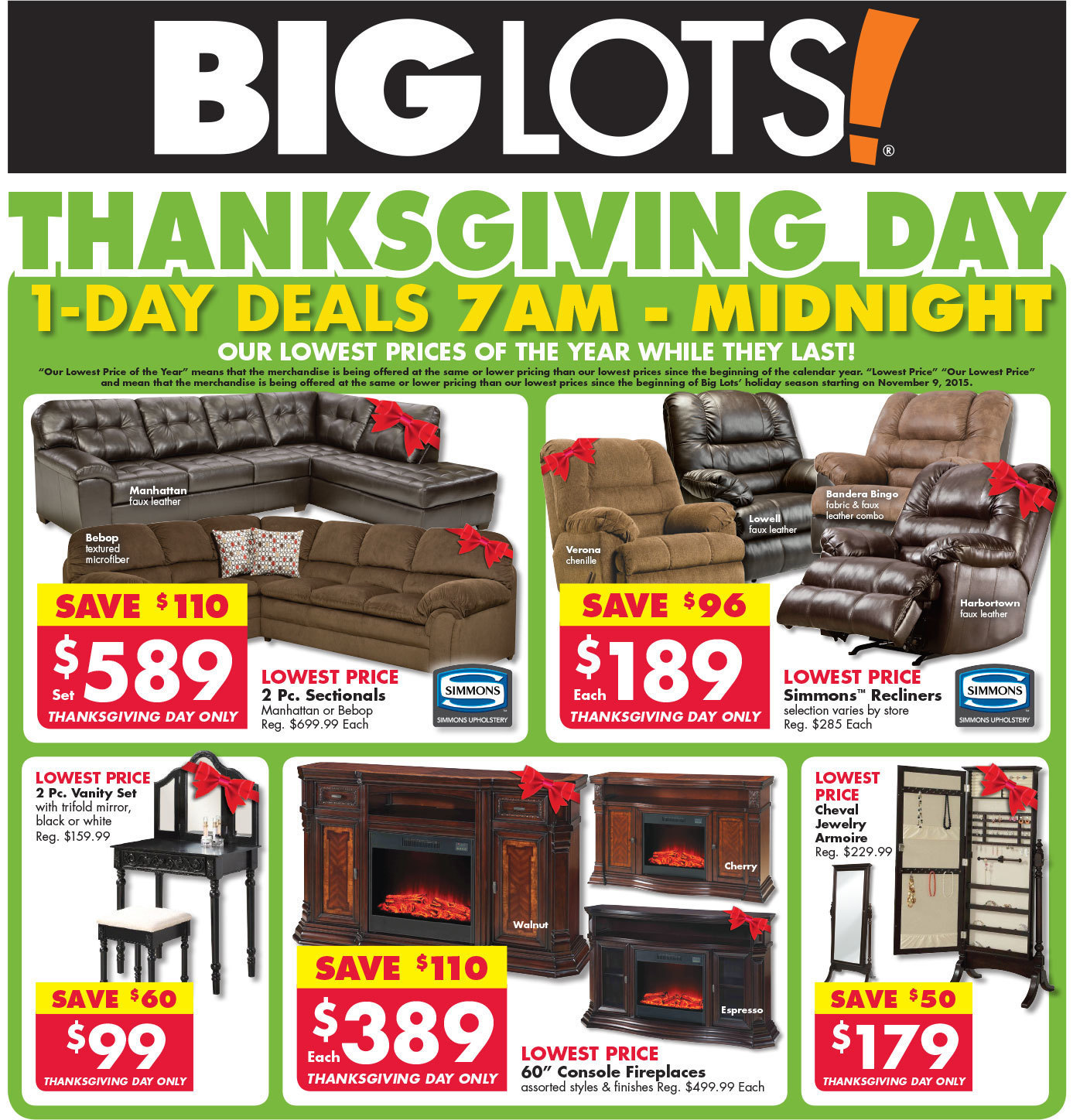 Big Lots Black Friday 2015 Ad Page 1