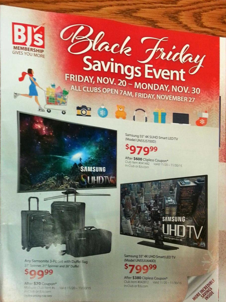 BJs Black Friday 2015 Ad Page 1