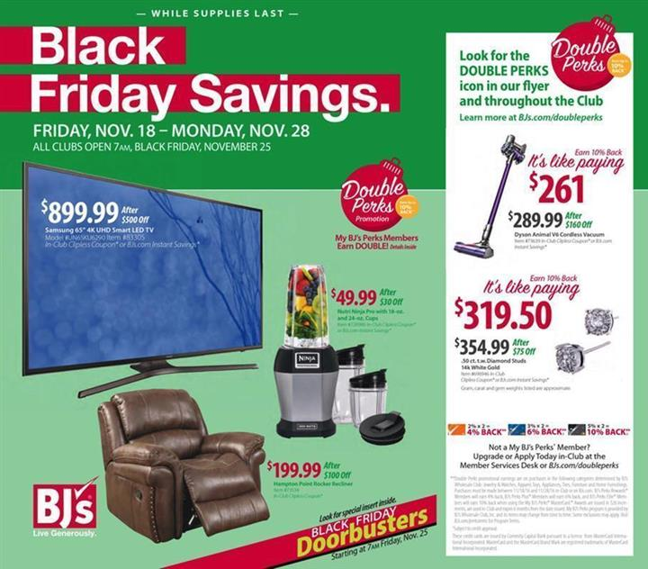 BJs Black Friday Ad 2016 - Pg 1