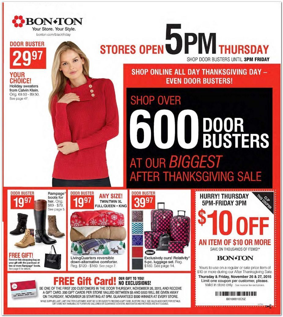 Bon Ton Black Friday 2015 Ad Page 1
