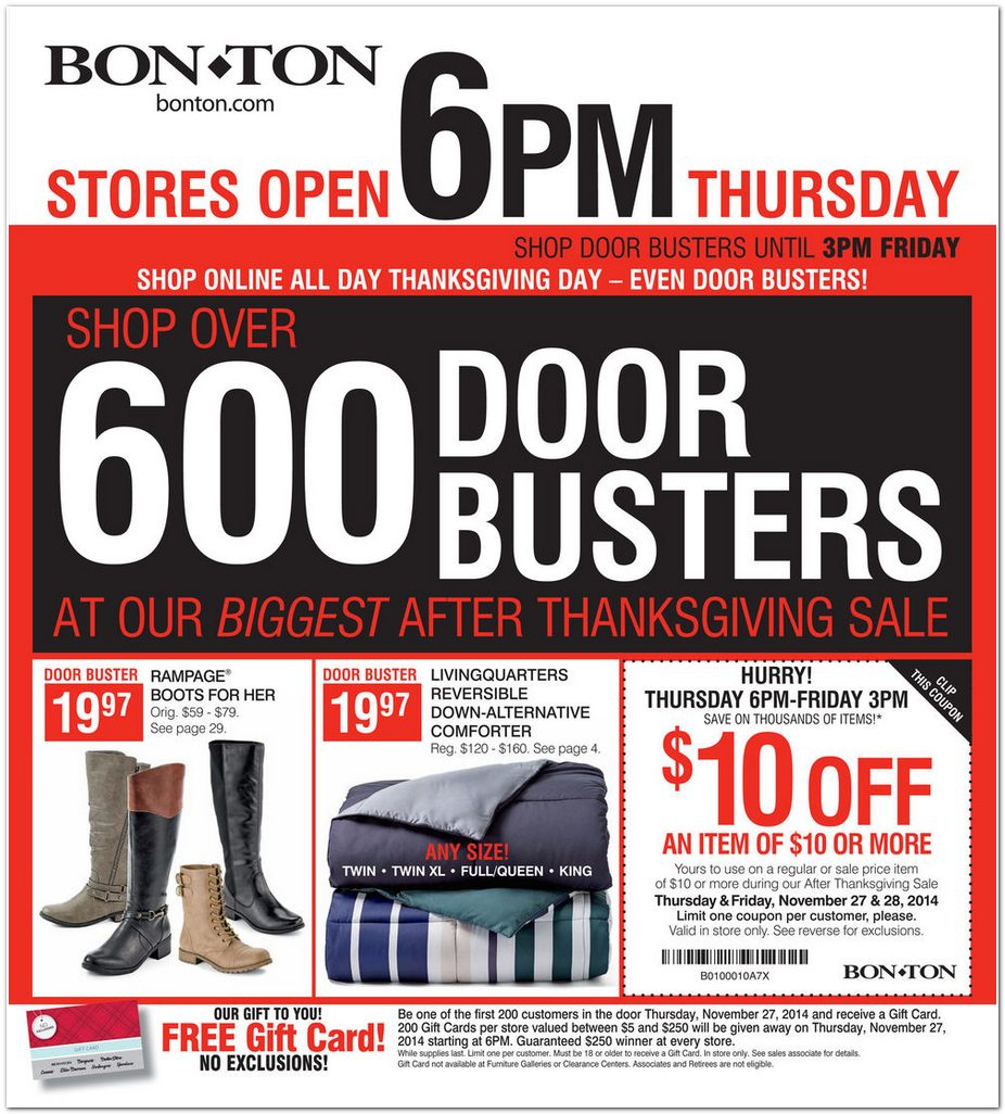 Bon Ton Black Friday Ad 2014 Pg 1