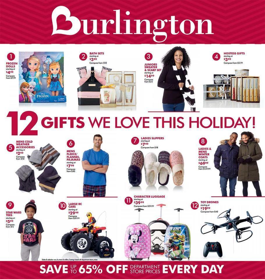 Burlington Black Friday 2015 Ad Page 1