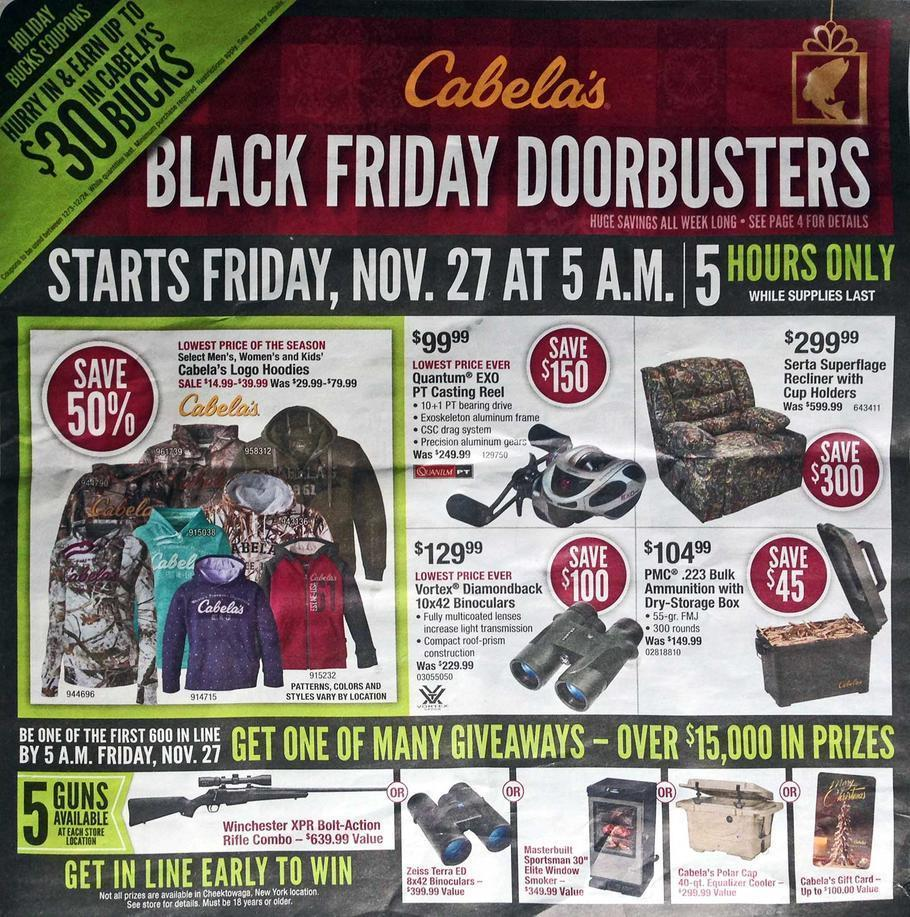Cabelas Black Friday 2015 Ad Page 1