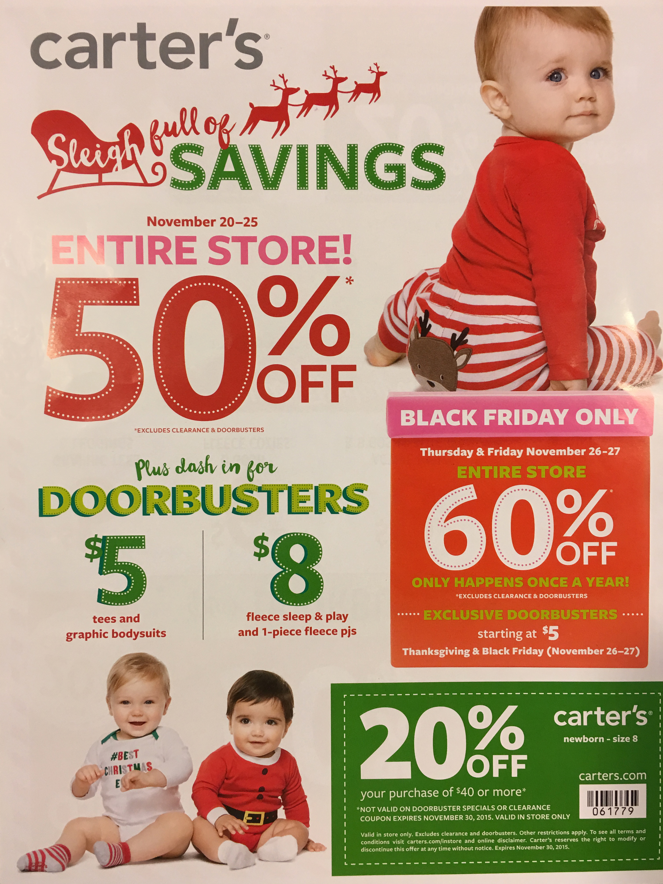 Carters Black Friday 2015 Ad Page 1