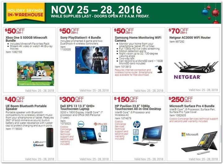 Costco Black Friday Ad 2016 - Pg 1