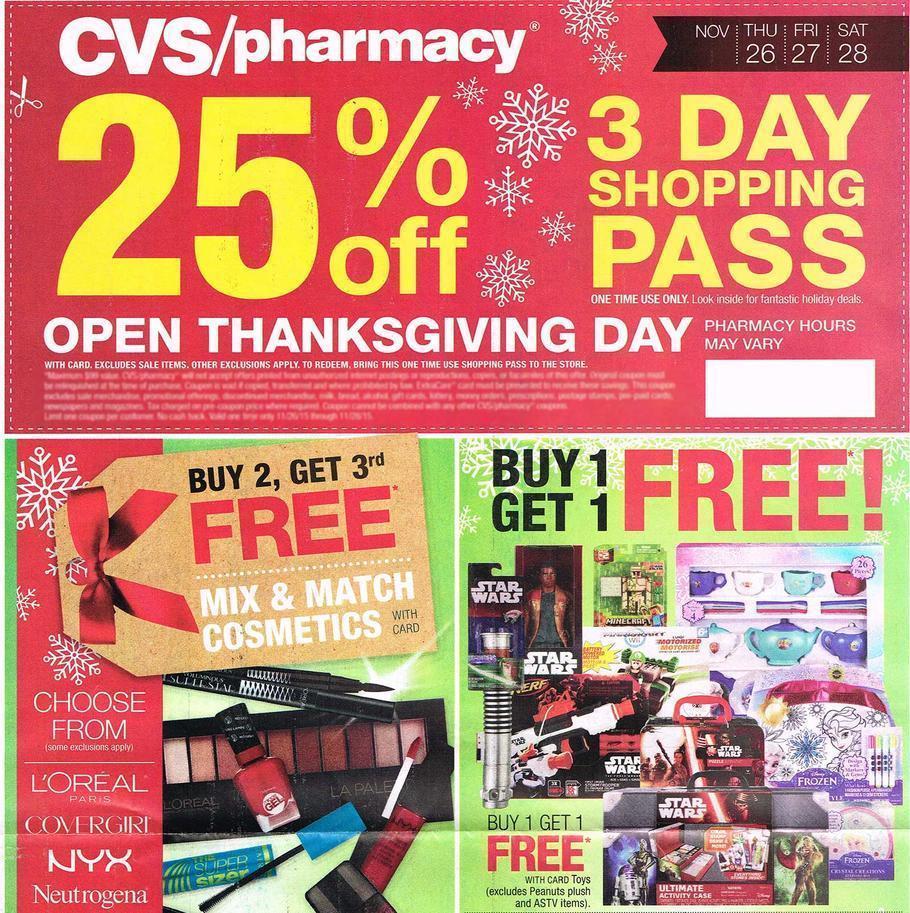 CVS Black Friday 2015 Ad Page 1