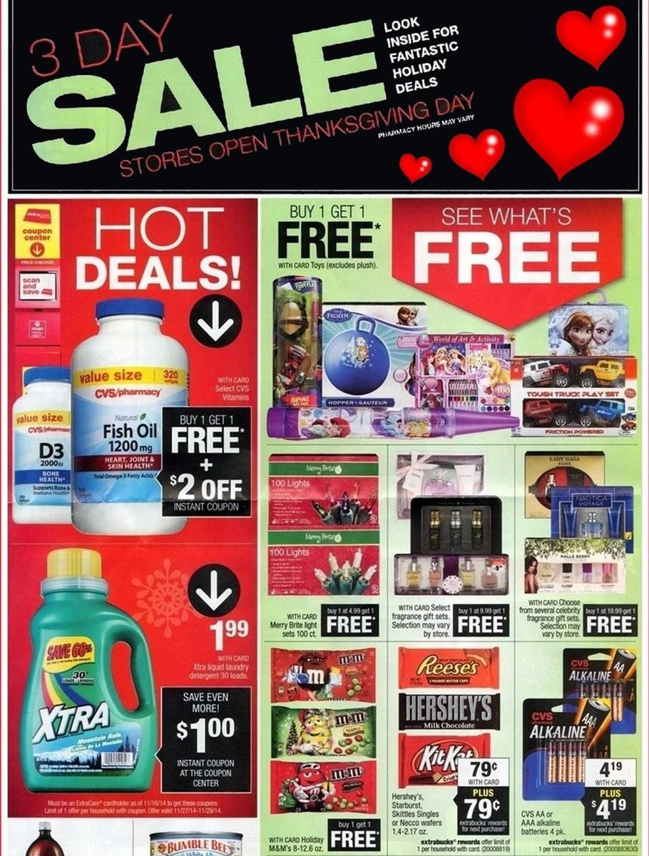 CVS Black Friday Ad 2014 Pg 1