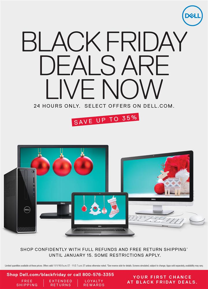 Dell Home Black Friday Ad 2016 - Pg 1