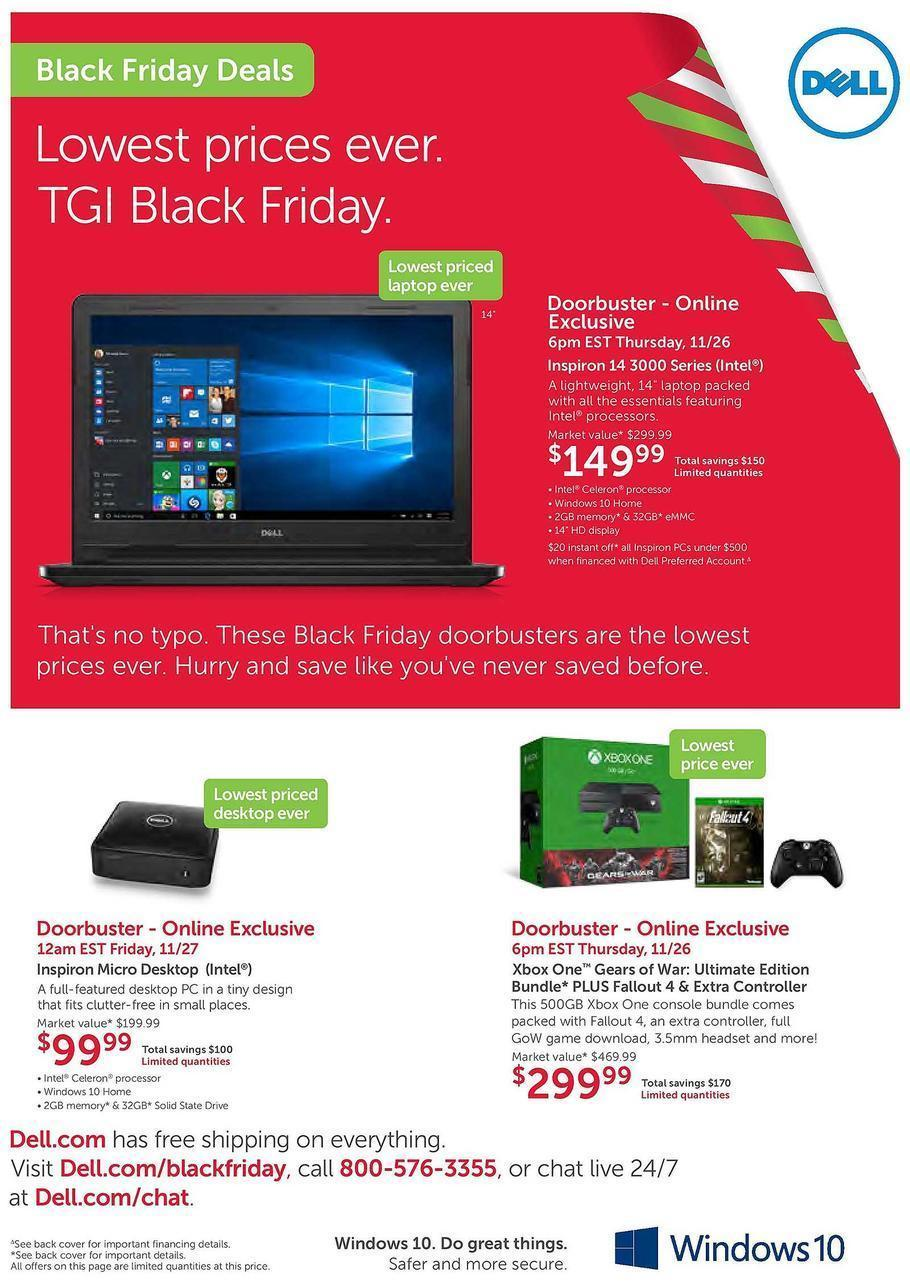 Dell Home Store Black Friday 2015 Ad Page 1