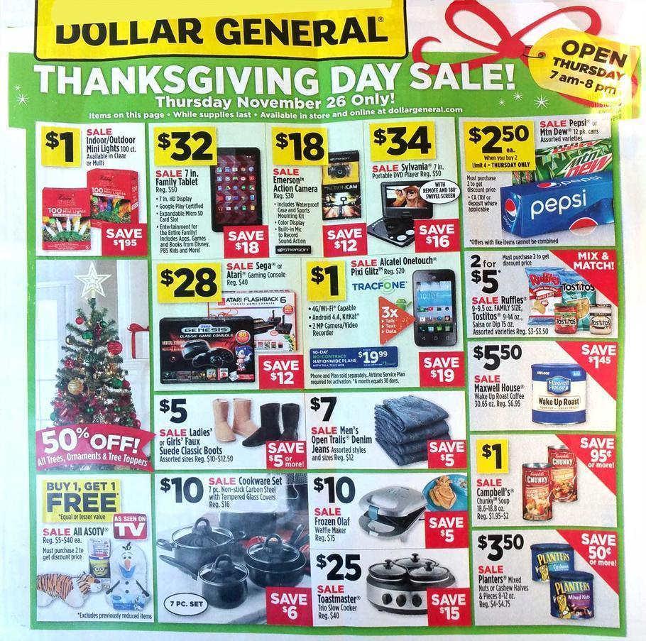 Dollar General Black Friday 2015 Ad Page 1