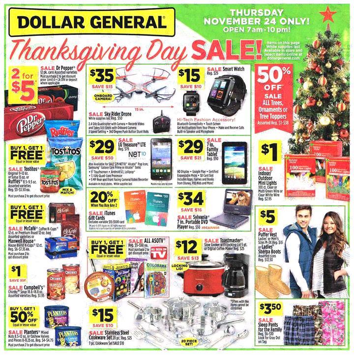 Dollar General Black Friday Ad 2016 - Pg 1