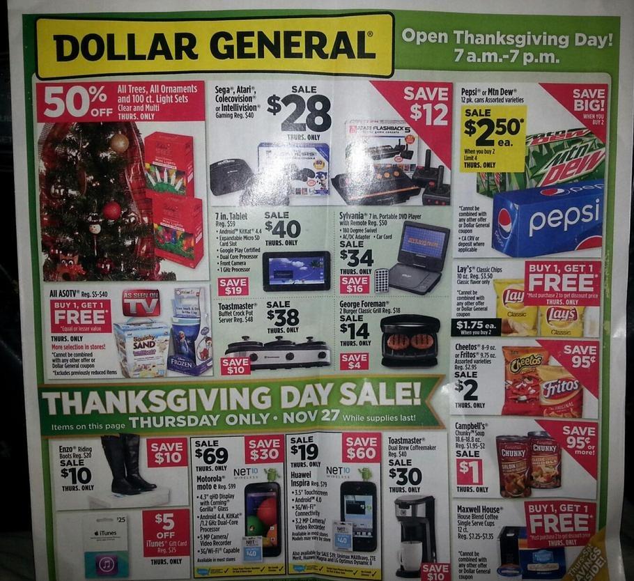 Dollar General Black Friday Ad 2014 Pg 1