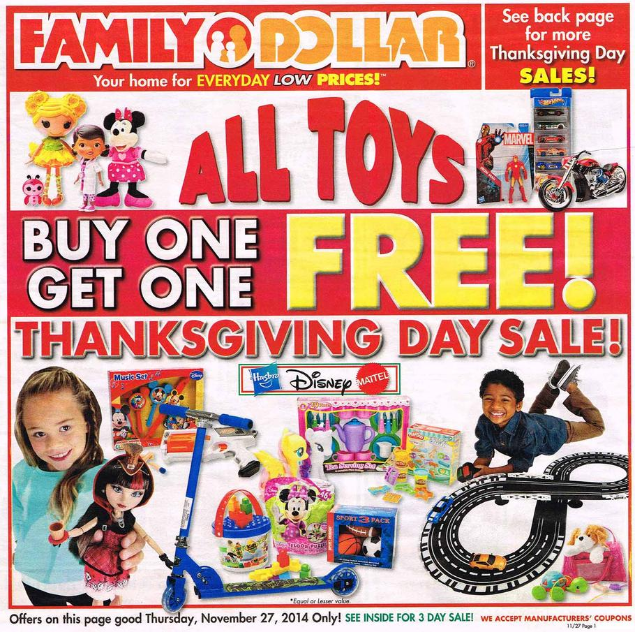Family Dollar Black Friday Ad 2014 Pg 1